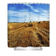 Hay Baling Shower Curtain