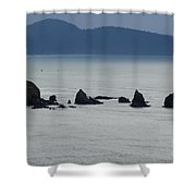 Haystack Rocks Shower Curtain