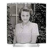 Actress Helena Bonham Carter  Shower Curtain