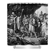 Henry I (876-936) Shower Curtain