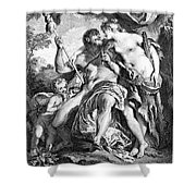 Hercules And Omphale Shower Curtain