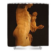Hermes And The Infant Shower Curtain by Bob Christopher