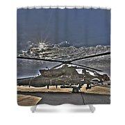 High Dynamic Range Photo Of An  Ah-64d Shower Curtain