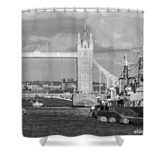 Hms Belfast Shower Curtain