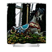 Holiday Horse Shower Curtain
