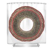 Honeysuckle Stem Shower Curtain