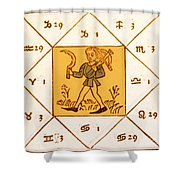 Horoscope Types, Engel, 1488 Shower Curtain