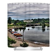 Hoyt Lake Delaware Park 0005 Shower Curtain