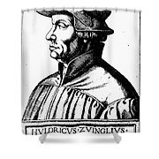 Huldreich Zwingli Shower Curtain by Granger