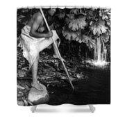 Hupa Fisherman, C1923 Shower Curtain
