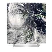 Hurricane Dean Shower Curtain