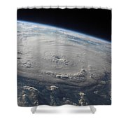 Hurricane Felix Over The Caribbean Sea Shower Curtain