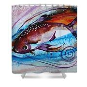 Hurricane Fish 28 Shower Curtain