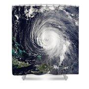 Hurricane Isabel Shower Curtain