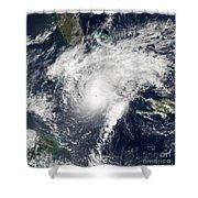 Hurricane Paloma Shower Curtain