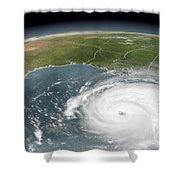 Hurricane Rita Shower Curtain
