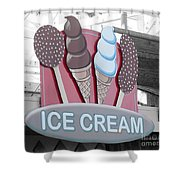 Ice Cream Sign Shower Curtain