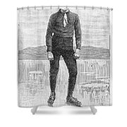 Ice Skater, 1880 Shower Curtain