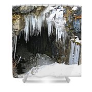 Icicle Falling Shower Curtain