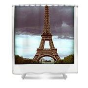 Illustration Of Eiffel Tower Shower Curtain