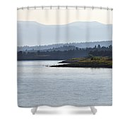 In The Mist Of Morning Shower Curtain