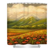 In The Old Mountains Shower Curtain