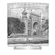 India: Taj Mahal Shower Curtain