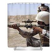 Iraqi Army Sergeant Sights Shower Curtain