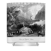 Ireland: Gougane Barra Shower Curtain