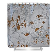 Ironwood In The Snow Shower Curtain