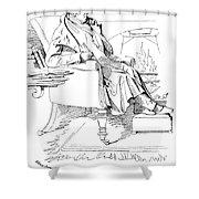 Isaac Disraeli (1766-1848) Shower Curtain