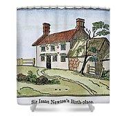 Isaac Newton Birthplace Shower Curtain