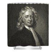 Isaac Newton, English Polymath Shower Curtain