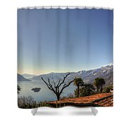 Islands On An Alpine Lake Shower Curtain