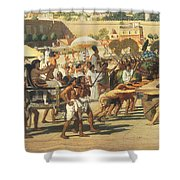 Israel In Egypt Shower Curtain by Sir Edward John Poynter
