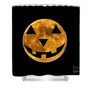 Jack-o-lantern Moon Shower Curtain