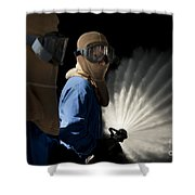 Japan Maritime Self-defense Force Shower Curtain