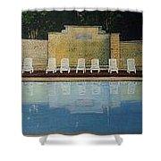Jekyll Island Hotel Pool Shower Curtain