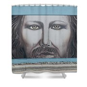 Jesus On The Street Shower Curtain