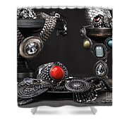Jewellery Still Life Shower Curtain