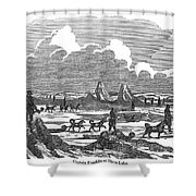 John Franklin Expedition Shower Curtain