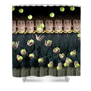 Juggler Shower Curtain by Ted Kinsman