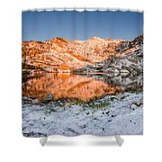 June Snowfall At Angel Lake Shower Curtain