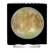 Jupiters Ice-covered Satellite, Europa Shower Curtain