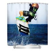 Kitesurfer Shower Curtain