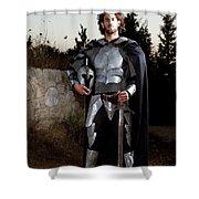Knight In Shining Armour Shower Curtain by Yedidya yos mizrachi