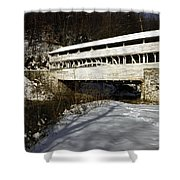 Knox Covered Bridge Shower Curtain