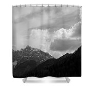 Kranjska Gora In Black And White Shower Curtain