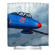 L-29 Delfin Standard Jet Trainer Shower Curtain