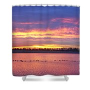 Lagerman Reservoir Sunrise Shower Curtain